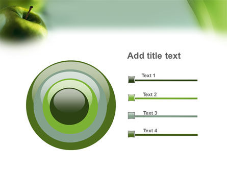 Green Apple On The Light Blue Background PowerPoint Template Slide 9