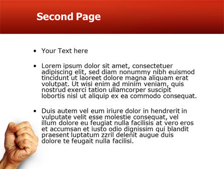 Fist Of Fury PowerPoint Template, Slide 2, 02497, Business Concepts — PoweredTemplate.com