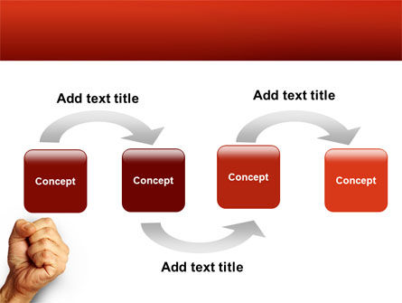 Fist Of Fury PowerPoint Template, Slide 4, 02497, Business Concepts — PoweredTemplate.com