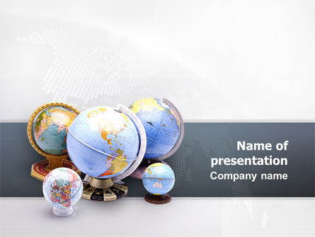 Globes Of Earth PowerPoint Template, 02499, Global — PoweredTemplate.com