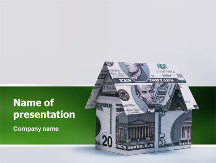 Financial/Accounting: Money House PowerPoint Template #02500