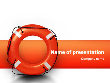 Business Concepts: Saving Buoy PowerPoint Template #02501