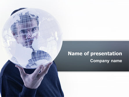 Global: Glass Globe PowerPoint Template #02509