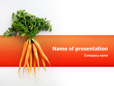 Agriculture: Carrot PowerPoint Template #02511