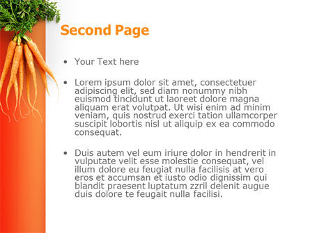 Carrot PowerPoint Template Slide 2