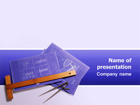 Blueprint Drawing PowerPoint Template