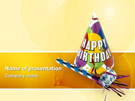 Birthday PowerPoint Template, 02513, Holiday/Special Occasion — PoweredTemplate.com