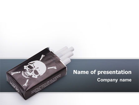 Anti Smoking PowerPoint Template, 02515, Medical — PoweredTemplate.com