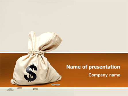 Money Bag PowerPoint Template, 02516, Financial/Accounting — PoweredTemplate.com