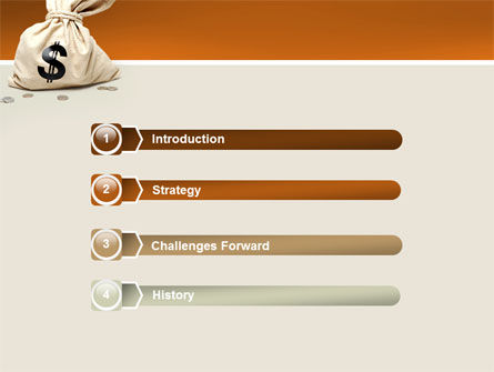 Money Bag PowerPoint Template, Slide 3, 02516, Financial/Accounting — PoweredTemplate.com