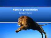 Animals and Pets: Modello PowerPoint - Leone #02519