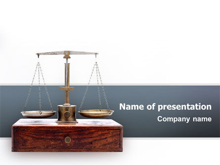 Legal: Judicial PowerPoint Template #02523