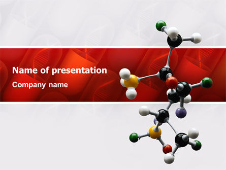 Technology and Science: Genetically Recombinant Medicine PowerPoint Template #02526