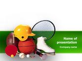 Sports: スポーツインベントリ - PowerPointテンプレート #02527