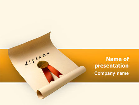 Sealed Diploma PowerPoint Template, 02528, Education & Training — PoweredTemplate.com