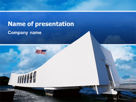 America: Uss Arizona PowerPoint Template #02529