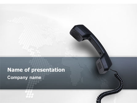 Telecommunication: Communication Tube PowerPoint Template #02530