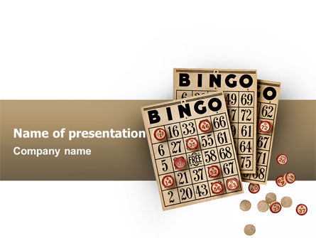 Bingo PowerPoint Template, 02531, Art & Entertainment — PoweredTemplate.com
