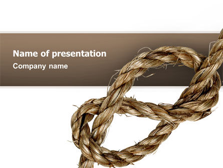 Rope PowerPoint Template, 02532, Business Concepts — PoweredTemplate.com