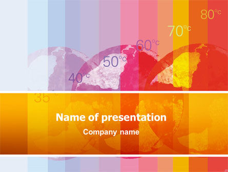 Nature & Environment: Global Warming PowerPoint Template #02536