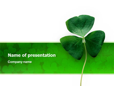 Clover PowerPoint Template, 02538, Agriculture — PoweredTemplate.com