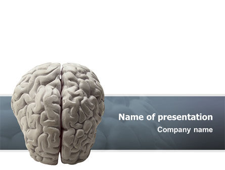 Medical: Brain In Gray PowerPoint Template #02541