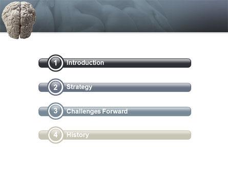 Brain In Gray PowerPoint Template, Slide 3, 02541, Medical — PoweredTemplate.com