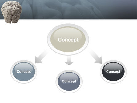 Brain In Gray PowerPoint Template, Slide 4, 02541, Medical — PoweredTemplate.com