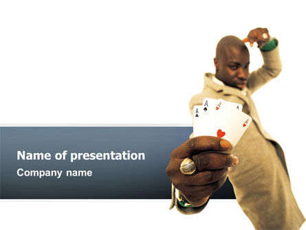 Art & Entertainment: Crooked Gambler PowerPoint Template #02544