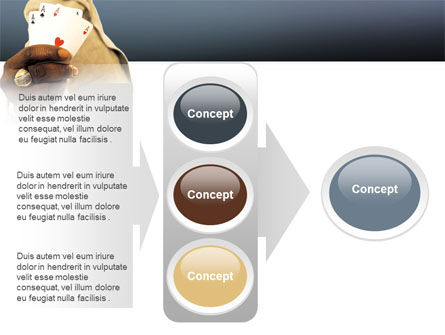 Crooked Gambler PowerPoint Template Slide 11