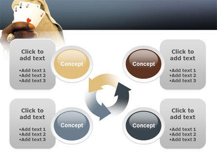 Crooked Gambler PowerPoint Template Slide 9