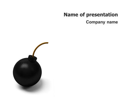 3D: Bomb PowerPoint Template #02546
