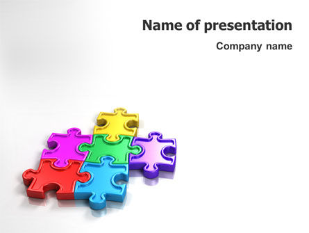 Business: Puzzle Game PowerPoint Template #02548