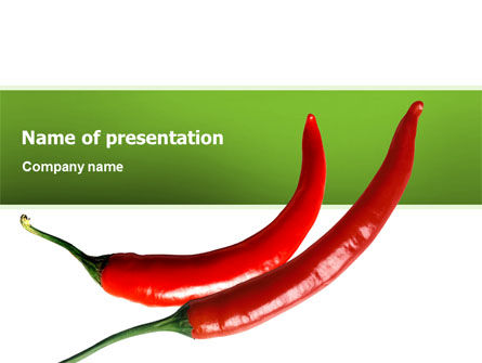 Food & Beverage: Hot Pepper PowerPoint Template #02550
