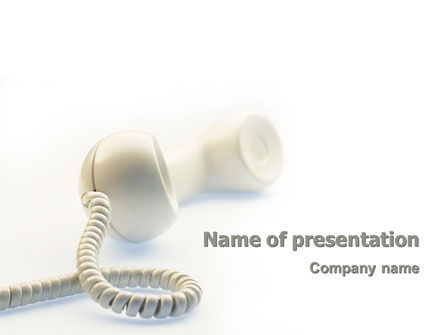 Telecommunication: Helpline PowerPoint Template #02551