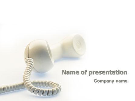 Telecommunication: Modèle PowerPoint de ligne d'assistance #02551