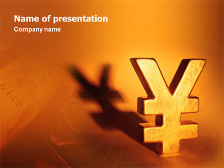 Yen PowerPoint Template, 02552, Financial/Accounting — PoweredTemplate.com