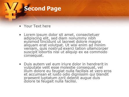 Yen PowerPoint Template, Slide 2, 02552, Financial/Accounting — PoweredTemplate.com