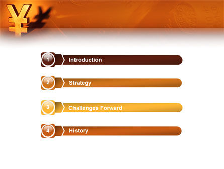 Yen PowerPoint Template, Slide 3, 02552, Financial/Accounting — PoweredTemplate.com