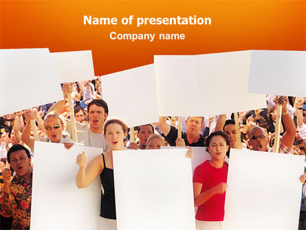 Protest PowerPoint Template, 02553, People — PoweredTemplate.com