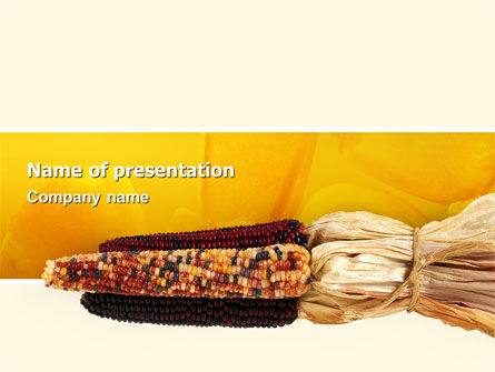 Agriculture: Mealies PowerPoint Template #02555