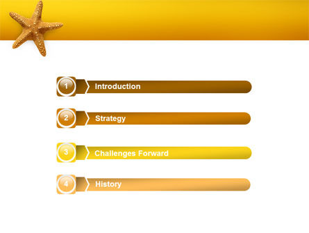 Star Fish PowerPoint Template, Slide 3, 02556, Animals and Pets — PoweredTemplate.com