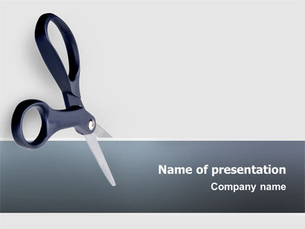 Business Concepts: Scissors PowerPoint Template #02557