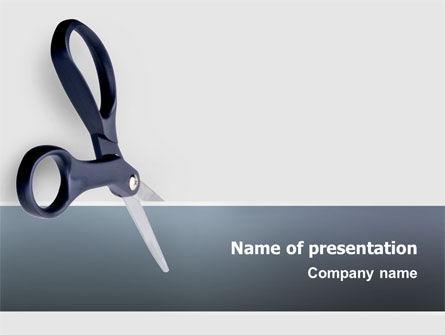 Scissors PowerPoint Template, 02557, Business Concepts — PoweredTemplate.com