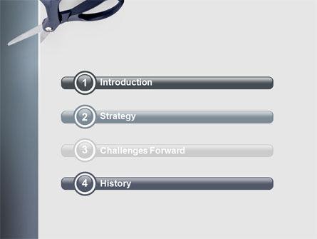 Scissors PowerPoint Template, Slide 3, 02557, Business Concepts — PoweredTemplate.com