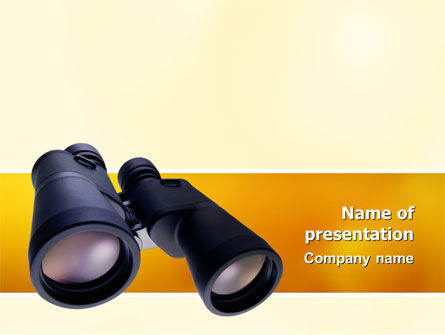 Binoculars PowerPoint Template, 02558, Business — PoweredTemplate.com
