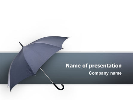 Umbrella PowerPoint Template, 02562, Business Concepts — PoweredTemplate.com