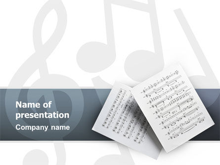 Printed Music PowerPoint Template, 02563, Education & Training — PoweredTemplate.com