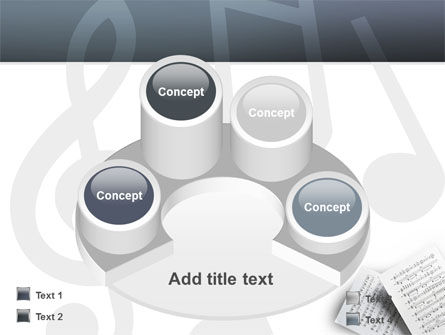 Printed Music PowerPoint Template Slide 12