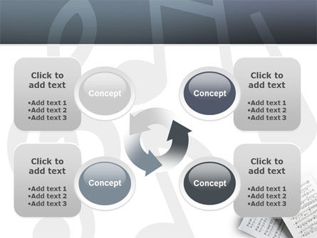 Printed Music PowerPoint Template Slide 9